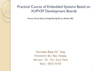 Practical Course of Embedded Systems Based on XUPV2P Development Boards