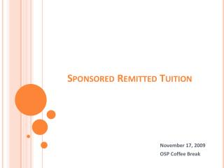 Sponsored Remitted Tuition