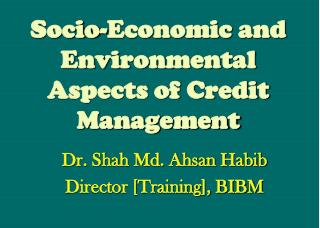 Socio-Economic and Environmental Aspects of Credit Management