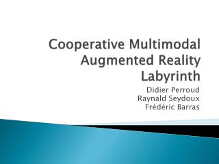 Cooperative  Multimodal  Augmented  Reality  Labyrinth