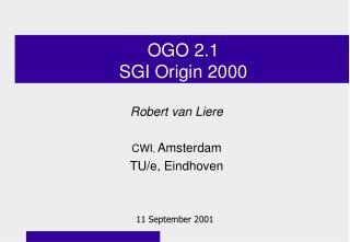 OGO 2.1 SGI Origin 2000