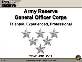 Army Reserve  General Officer Corps