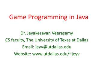 Game Programming in Java