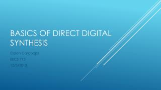 Basics of Direct Digital Synthesis