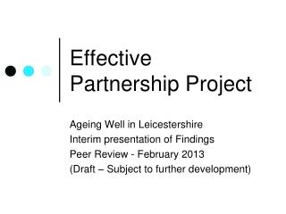 Effective Partnership Project