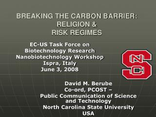BREAKING THE CARBON BARRIER:  RELIGION &  RISK REGIMES
