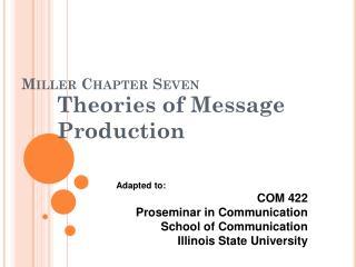 Miller Chapter  Seven