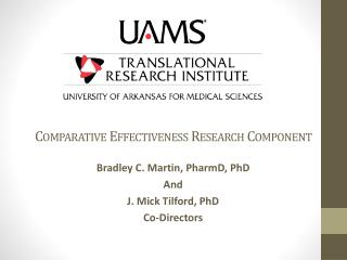 Comparative Effectiveness Research Component