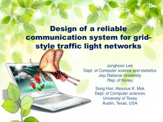 Design of a reliable communication system for grid-style traffic light networks