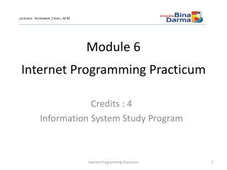 Internet Programming Practicum