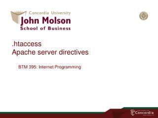 . htaccess Apache server directives