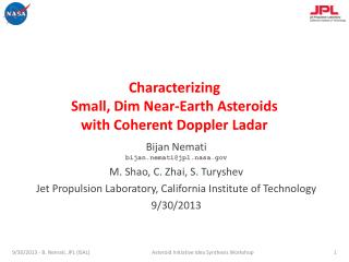 Characterizing Small, Dim Near-Earth Asteroids  with  Coherent Doppler  Ladar
