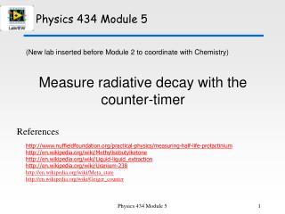 Physics 434 Module 5