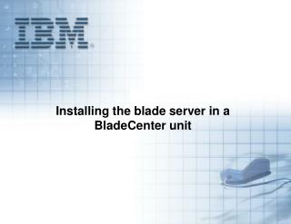 Installing the blade server in a BladeCenter unit