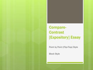 Compare-Contrast [Expository] Essay
