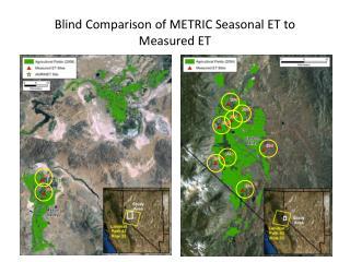 Blind Comparison of METRIC Seasonal ET to  Measured ET