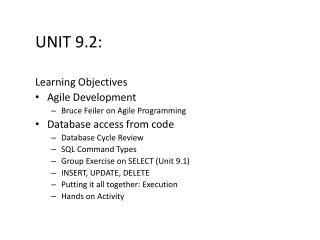 Unit 9.2: