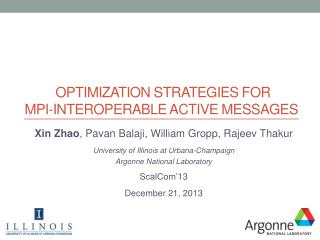 Optimization Strategies  for MPI -Interoperable Active Messages