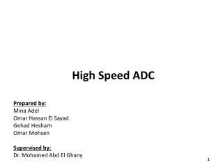 High Speed ADC