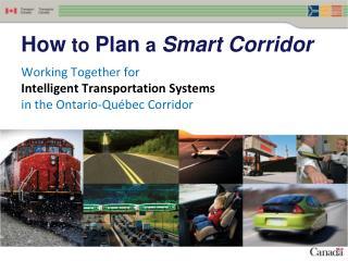 How  to  Plan  a  Smart Corridor