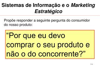 Sistemas de Informa  o e o Marketing Estrat gico