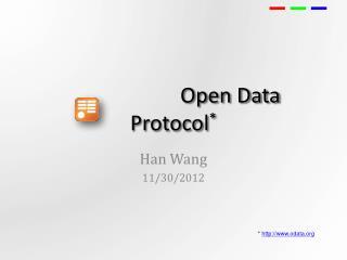 Open  Data Protocol *
