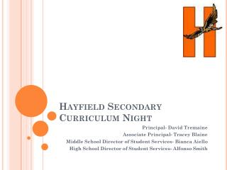 Hayfield Secondary Curriculum Night