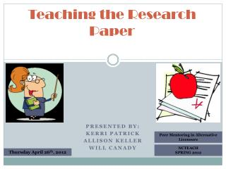 Teaching the Research Paper