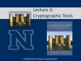 Lecture 3:  Cryptographic Tools
