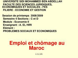 UNIVERSITE SIDI MOHAMMED BEN ABDELLAH