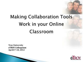 Making Collaboration Tools Work in your Online Classroom