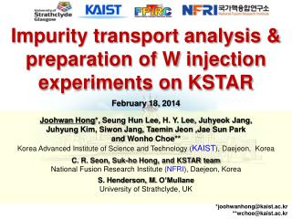 Impurity transport analysis & preparation of W injection experiments on KSTAR