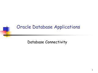 Oracle Database Applications