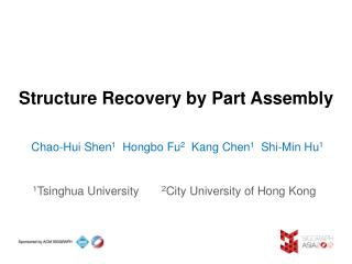 Structure Recovery by Part Assembly