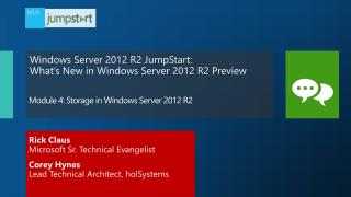 Module  4:  Storage in Windows Server 2012  R2