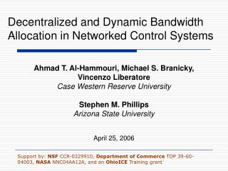 Decentralized and Dynamic Bandwidth Allocation in Networked Control Systems