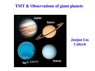 TMT & Observations of giant planets