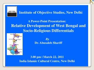 Institute of Objective Studies, New Delhi