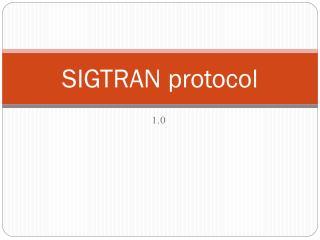 SIGTRAN protocol