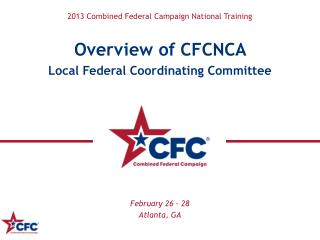 2013 Combined Federal Campaign National Training