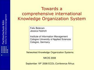 Fachhochschule Köln Institut für Informationsmanagement