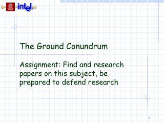 The Ground Conundrum