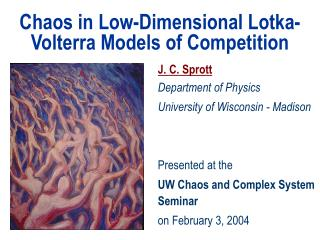 Chaos in Low-Dimensional Lotka-Volterra Models of Competition