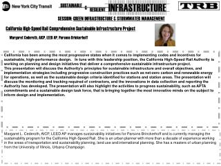 SESSION:  GREEN INFRASTRUCTURE & STORMWATER MANAGEMENT
