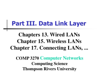 Ch.13 Wired LANs: Ethernet