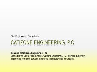 Catizone engineering, p.c.