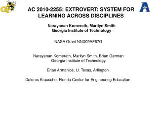 AC 2010-2255: EXTROVERT: SYSTEM FOR LEARNING ACROSS DISCIPLINES