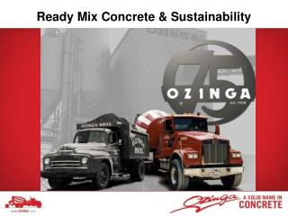 Ready Mix Concrete & Sustainability