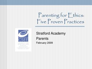 Parenting for Ethics:  Five Proven Practices