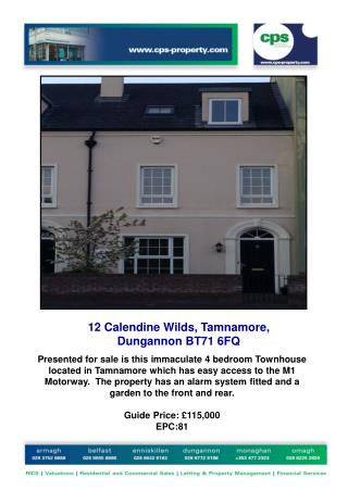 12 Calendine Wilds, Tamnamore, Dungannon BT71 6FQ
